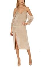 c80ea24d9d50 Michelle Mason Drop Shoulder Slip Dress Champagne