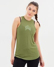 053049d55be771 Pilot Athletic Jacqueline High-Neck Singlet Army Green