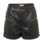 Anine Bing Lia leather shorts black BIN9W666