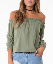 All About Eve - Vienna Top - Khaki