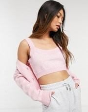 Fashion Union fluffy knit mini bralet co-ord 22500141