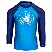 Body Glove Kids' Contrast Long Sleeve Rash Vest Teal & Navy