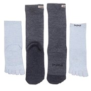 Injinji Men's Hiking Liners Sock Set Charcoal