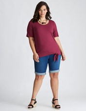 Autograph Girlfriend Denim Short MID WASH
