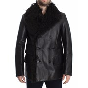 Dolce & Gabbana Trench Coat Lambskin Leather Jacket MainLine collection - Black 4497234001964