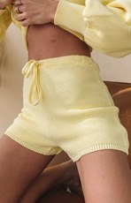 Beginning Boutique Berkley Knit Shorts Yellow