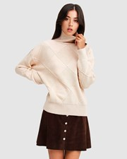Belle & Bloom The Academy Turtleneck Jumper - Ivory