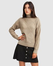 Belle & Bloom The Academy Turtleneck Jumper - Oat