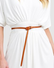 Belle & Bloom Tie The Knot Leather Belt - Brown