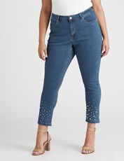 BeMe Slim Leg Pearl Jean Ankle Length mid wash