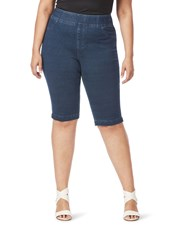Beme Pull On Denim Look Short mid wash