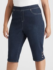 Beme Pull On Jegging Short mid wash