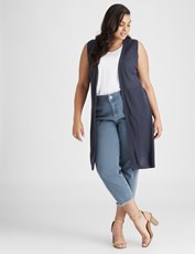 Beme Sleeveless Navy Vest french navy