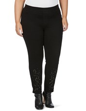 Beme Slim Leg Embroidered Jegging black