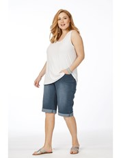 Beme The Secret Shaper Denim Short mid wash