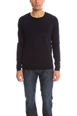 120% LINO Cashmere Sweater Blue/Black