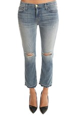 Current/Elliott Cropped Straight Jean Ticker Destroy
