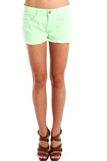 Current/Elliott The Boyfriend Short in Lime Green