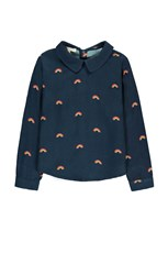 Hundred Pieces Rainbow Blouse Navy