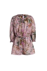 Zimmermann Tropicale Bow Playsuit Pink Floral