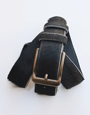 Carolina Cowhide Belt Black