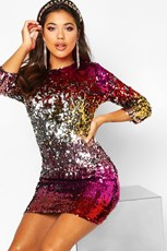 Boohoo Boutique Multi Sequin Bodycon Dress