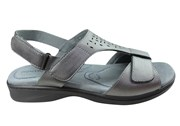 Homyped Devika Womens Comfort Supportive Leather Wide Fit Sandals