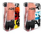AQS - Men's Boxers Pack of 6 - White, Blue, White + Red, Yellow, Orange
