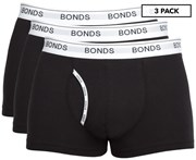 Bonds Men's Guyfront Trunk 3-Pack - Black