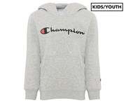 Champion Kids'/Youth Script Hoodie - Oxford Heather