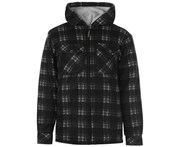 Dunlop Mens Full Zip Checked Hoody Hooded Jacket Hoodie Top Coat Long Sleeve