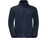 Jack Wolfskin Boys & Girls Baksmalla Warm Full Zip Fleece Jacket Coat - Midnight Blue