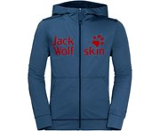 Jack Wolfskin Boys & Girls Redland Light Breathable Fleece Jacket - Ocean Wave