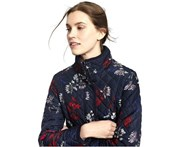 Joules Womens/Ladies Newdale Print Quilted Polycotton Jacket Coat - Marine Navy Fay Floral