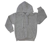 Fresh Idea Living Kids Hoodie Jumper Pullover Basic School Uniform Plain Casual Sweatshirt - Grey
