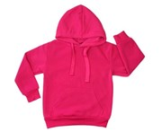 Fresh Idea Living Kids Hoodie Jumper Pullover Basic School Uniform Plain Casual Sweatshirt - Hot Pink