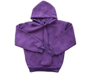 Fresh Idea Living Kids Hoodie Jumper Pullover Basic School Uniform Plain Casual Sweatshirt - Purple