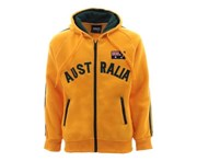 Fresh Idea Living Kids Zip-up Hoodie Jacket Jumper Australia Day Souvenir - Green & Gold