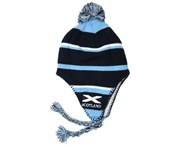 Scotland Kids/Childrens Boys Scotland Stripe Peruvian Hat With Tassels (Navy/Blue/White) - HA117