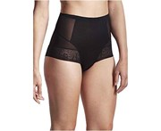 LaSculpte Women's Shapewear Tummy Control Everyday Jacquard Mesh Shaping Brief - Black