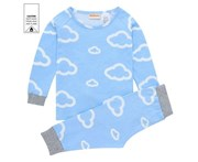 MeMaster - Baby Boys Cloud Pyjama Set - Blue