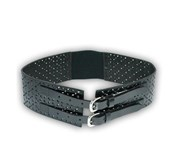 Addison Road Picton - Addison Road Double Buckle Black Wide Waist Women's Belt