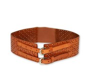 Addison Road Picton - Addison Road Double Buckle Tan Wide Waist Women's Belt