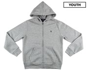 Ralph Lauren Polo Ralph Lauren Youth Cotton Fleece Full Zip Hoodie - Dark Split Heather