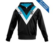Afl Port Adelaide Youth Long-Sleeved Guernsey Hoody