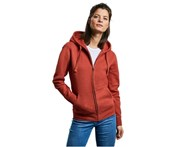 Russell Athletic Russell Womens Authentic Zipped Hoodie (Burgundy Melange) - BC4620