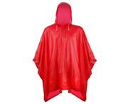 Splashmacs Unisex Adults Plastic Poncho / Rain Mac (Red) - RW1494