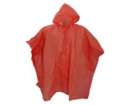 Splashmacs Unisex Lightweight Rain Poncho (Red) - PC123