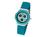 Stuhrling Original Women's 180R.1116II93 Special Reserve Apocalypse Cosmo Girl Stainless Steel Watch with Blue Rubber Strap