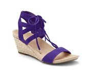 VIONIC Women's Tansy Wedge Espadrille Sandal Purple